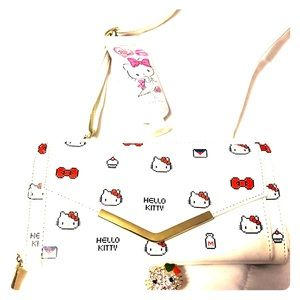 Brand new hello kitty wallet with strap